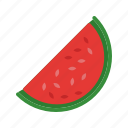 food, fruit, juicy, melon, slice, summer, watermelon icon