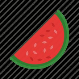 food, fruit, juicy, melon, slice, summer, watermelon icon