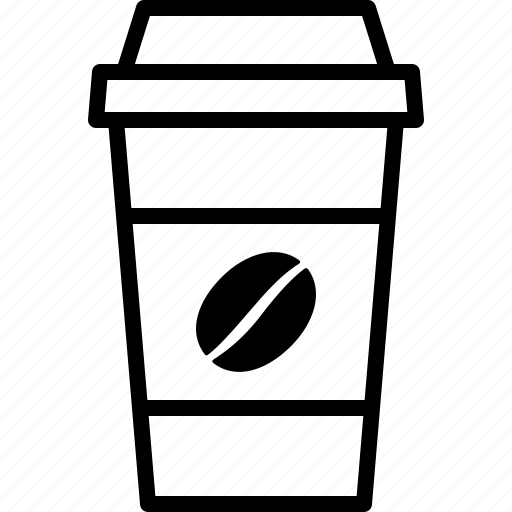 bean, caffeine, coffee, cup, disposable, drink, paper icon