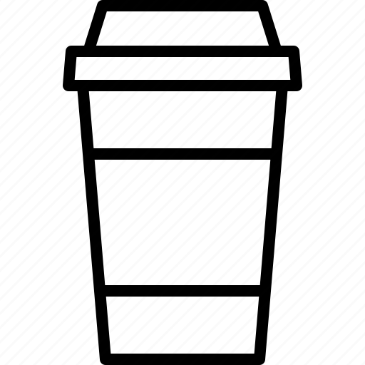 caffeine, coffee, cup, disposable, drink, paper, tea icon