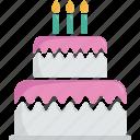 birthday cake, food, dessert, patisserie, gateau, birthday, pastry, candles, cake