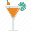alcohol, cocktail, drink, glass, lemon, olive icon