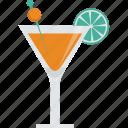 alcohol, cocktail, drink, glass, lemon, olive