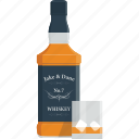 alcohol, bottle, glass, ice, whisky, wine icon