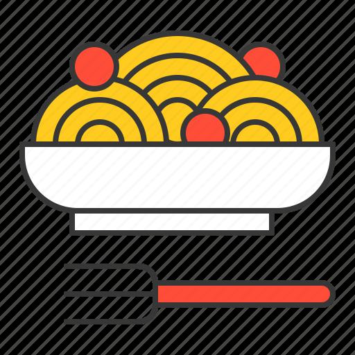 cuisine, food, meal, noodle, pasta, restaurant, spaghetti icon