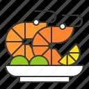 cooking, cuisine, food, menu, prawn, restaurant, seafood icon