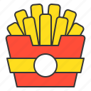 fast food, food, french fries, junk food, menu, restaurant icon