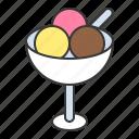 dessert, food, ice cream, ice cream scoop, scoop, sweets icon