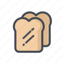 bread, breakfast, cooking, meal, sandwich, toaster, vegetable icon