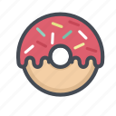 bakery, cooking, donut, doughnut, food, restaurant, snack icon