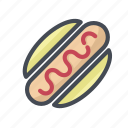 burger, food, hamburger, hot dog, hotdog, junk, sausage icon