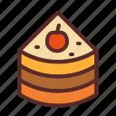 cake, pancake, slice
