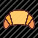 croissant, snack, cake