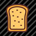 bread, butter, wheatbread