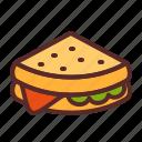 sandwich, chesse, lettuce
