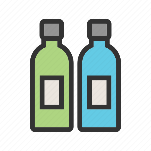 beer, bottle, bottles, drink, glass, two, water icon