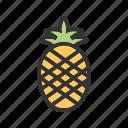 pineapple, food, fruit, tropical