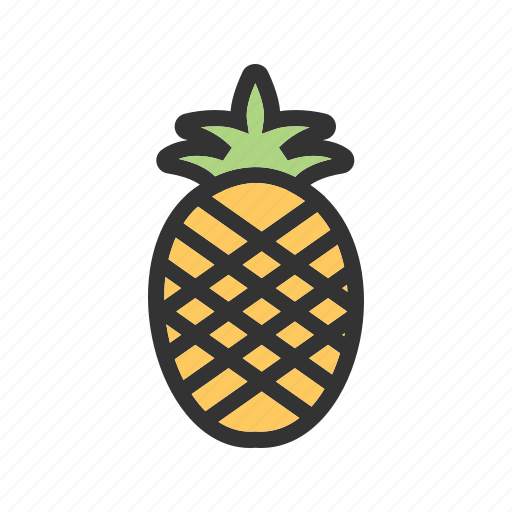 color, green, healthy, natural, pineapple, sweet, tasty icon