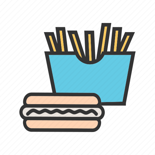 burger, dinner, drink, fast, food, hamburger, meal icon