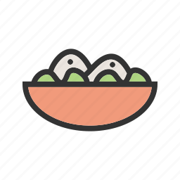 bowl, food, fresh, green, healthy, salad, vegetable icon