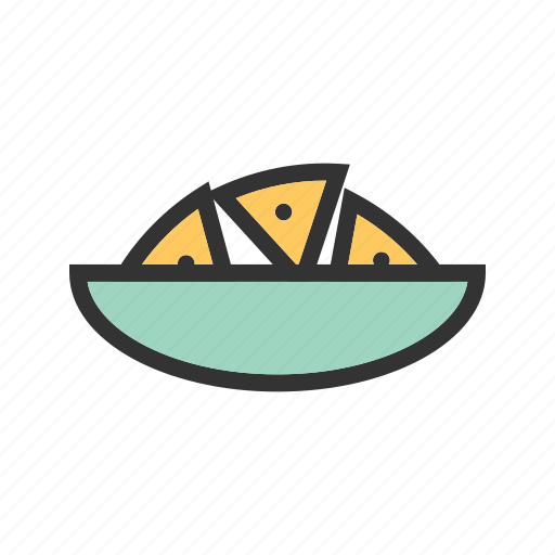 cheese, chili, chips, corn, food, nachos, plate icon
