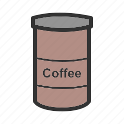 bottle, box, brown, coffee, food, glass, jar icon