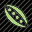 green, peas, beans, vegetable