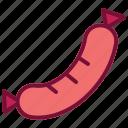 sausage, eat, food, meal, hotdog, meat, fastfood