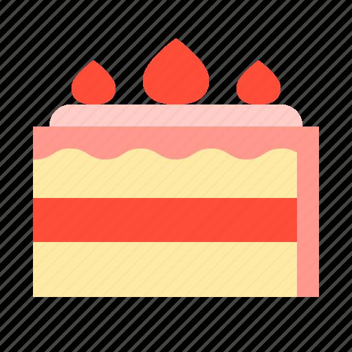 cake, dessert, food, menu, strawberry cake, sweets icon