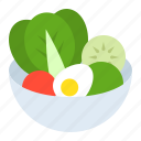 cooking, cuisine, food, healthy, menu, salad, vegetable icon