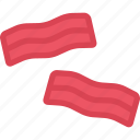 bacon, cooking, food, product, shop, supermarket icon
