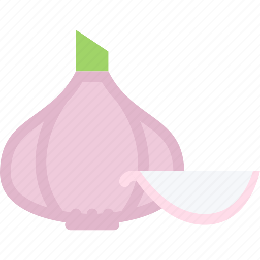 cooking, food, garlic, product, shop, supermarket, vegetable icon