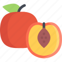cooking, food, fruit, peach, product, shop, supermarket icon