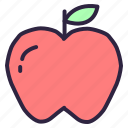 apple, diet, food, fruit, golden, healthcare, healthy icon