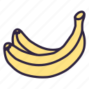 banana, banana bunch, banana skin, breakfast, food, fruit, healthy icon