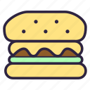 bread, burger, cheeseburger, food, meal, sandwich, toast icon