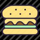 burger, cheeseburger, food, sandwich, toast icon