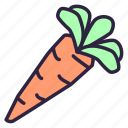 carrot, carrots, food, health, healthy, vegetable, vegetarian icon
