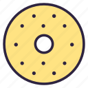 bagel, cake, candy, dessert, donut, pie, sweet icon