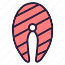 bbq, fish, food, salmon, seafood icon