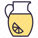 carafe, decanter, drink, food, lemonade icon
