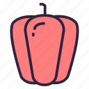 bell pepper, food, paprika, pepper, vegetable icon