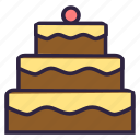 cake, food, gateau, pasty, pie, tart icon