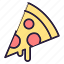cheese pizza, fastfood, food, pizza, pizza delivery icon