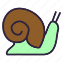 clam, cooking, food, healthy, mollusk, shellfish, snail icon
