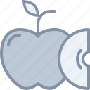 apple, eating, food, fruit, slice icon