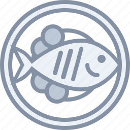 dinner, eating, fish, food, meat, plate icon