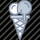 desert, eating, food, icecream