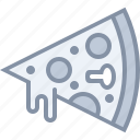 eating, fastfood, food, junk, pizza icon