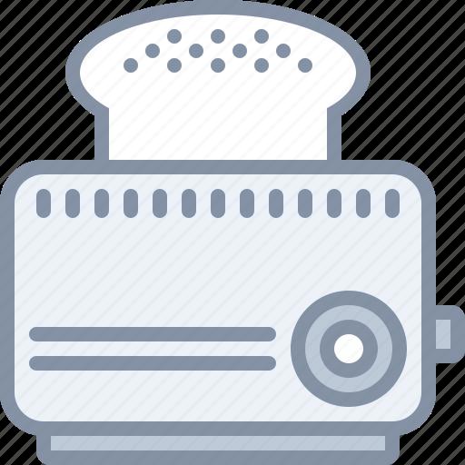 appliance, bread, breakfast, eating, food, kitchen, toaster icon